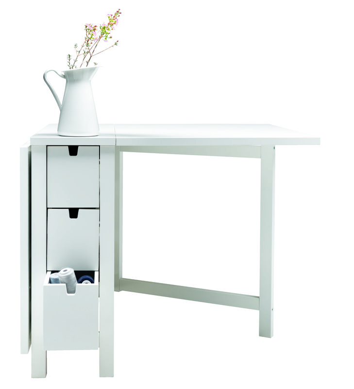 Table pliante ikea blanc for Table pliante escamotable